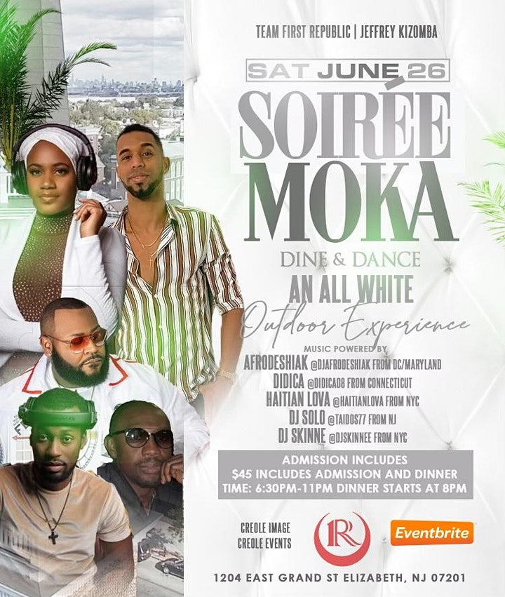 Soirée Moka Dine & Dane an All White Outdoor Experience image