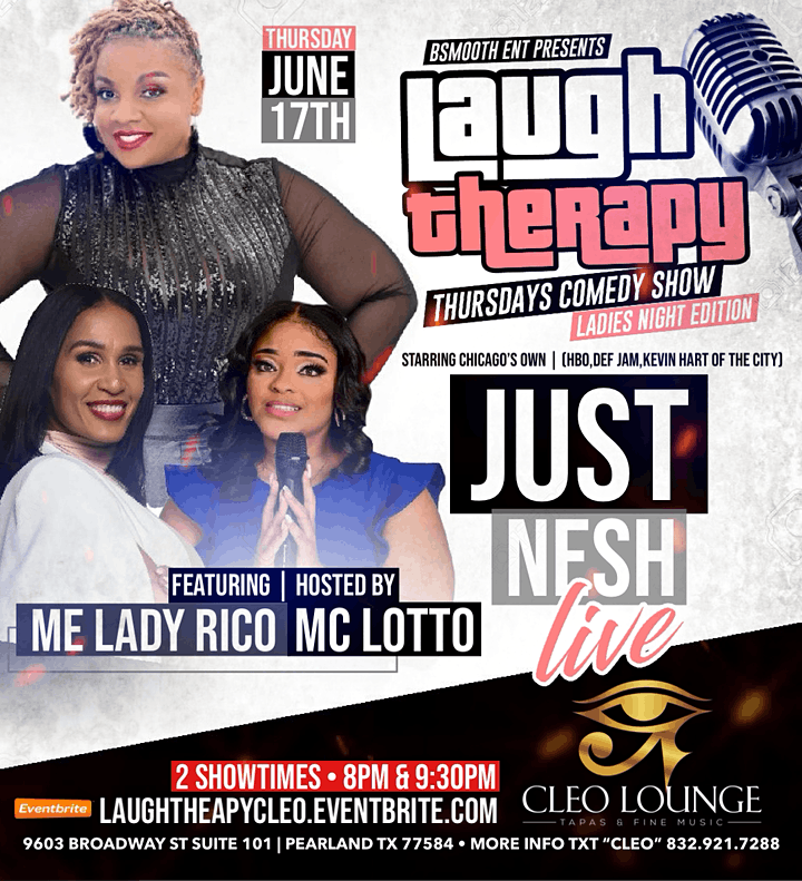 Pearland Tx Laugh Therapy Comedy Show Starring Just Nesh image