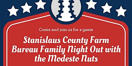 Farm Bureau Family Night Out at Modesto Nuts tickets