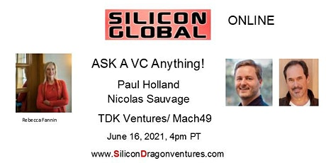 Silicon Global Online: Ask TDK Ventures' VC Pros Anything! tickets