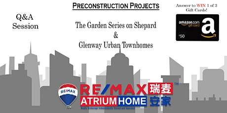 FIRST LOOK at The Garden Series CONDO FLOOR PLANS, Glenway Urban Towns, Q/A tickets