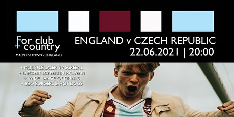 FOR CLUB + COUNTRY: ENGLAND v CZECH REPUBLIC (OUTDOOR TABLES) tickets