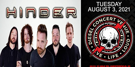 HINDER  Live at Diesel Tuesday August 3, 2021 tickets