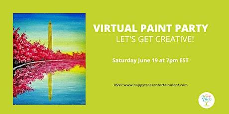 Virtual Paint Party:  Juneteenth ~ Serene DC Sunset tickets