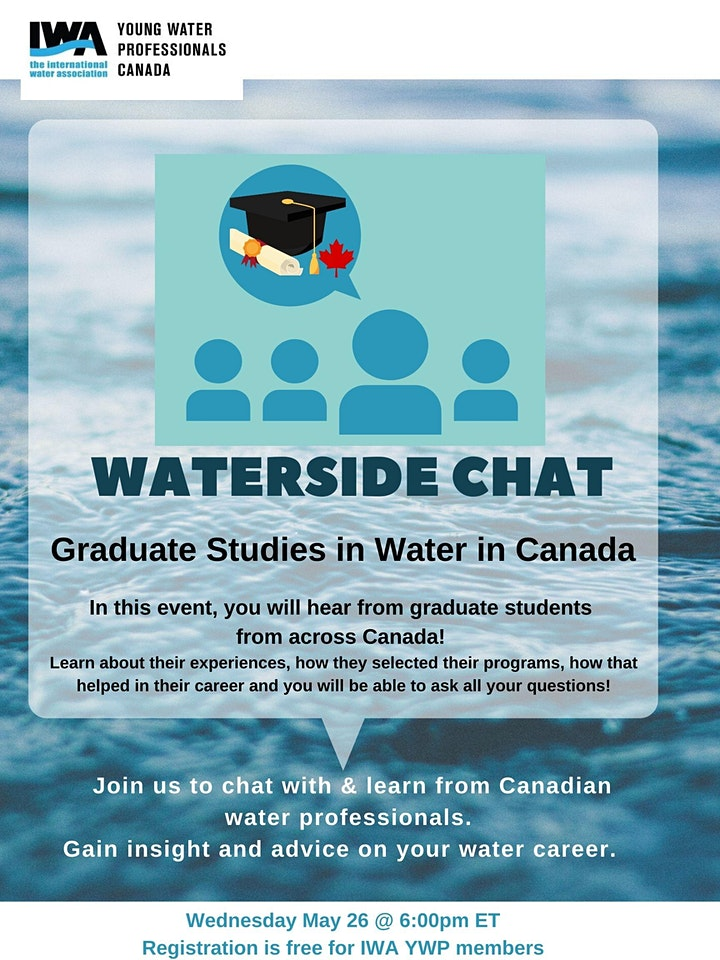 Waterside Chat - Graduate students edition! image