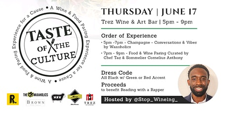 Taste For the Culture | Wine & Food Pairing Experience for the Culture tickets