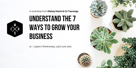 Understand the 7 Ways to Grow Your Business tickets