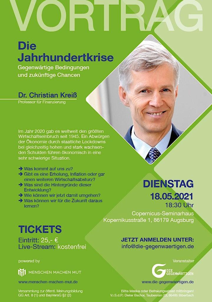 """gefas-Vortrag:  Prof.Dr. Christian Kreiß """"Die Jahrhundertkrise"""": Bild"""