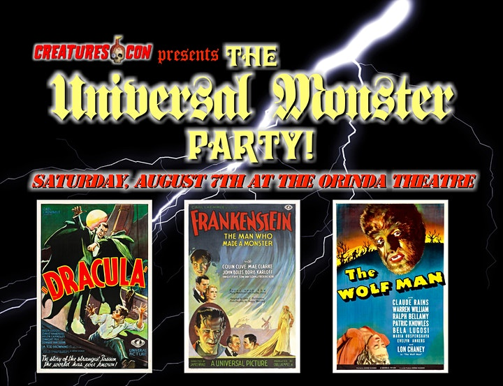Creatures-Con presents The Universal Monster Party! image