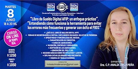 """""""Libro de Sueldo Digital AFIP: un enfoque práctico"""" entradas"""