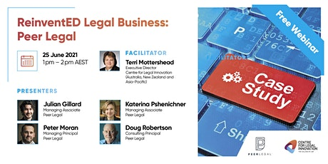 ReinventED Legal Business: The Case Studies - Peer Legal tickets