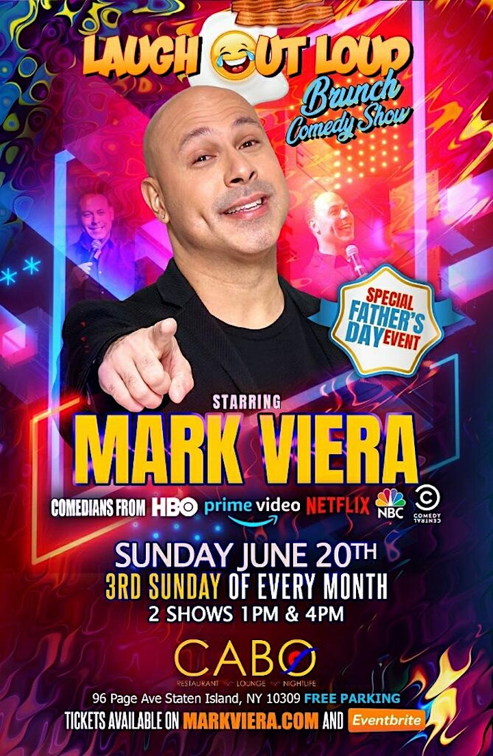 Laugh Out Loud Brunch Comedy Show Starring Mark Viera at Cabo Restaurant image