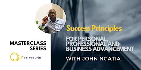 Masterclass Series | Success Principles tickets