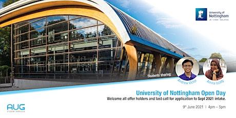 University of Nottingham Open Day biglietti