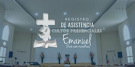 """Culto presencial - INP Emanuel """"Dios con Nosotros"""" boletos"""