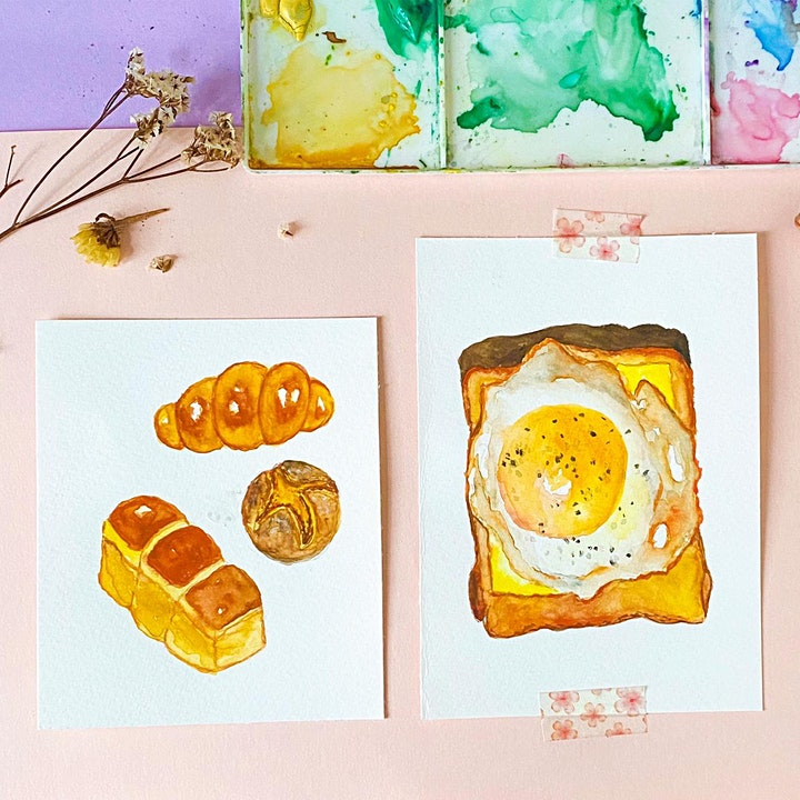 Food Illustration with Watercolours Online Workshop image