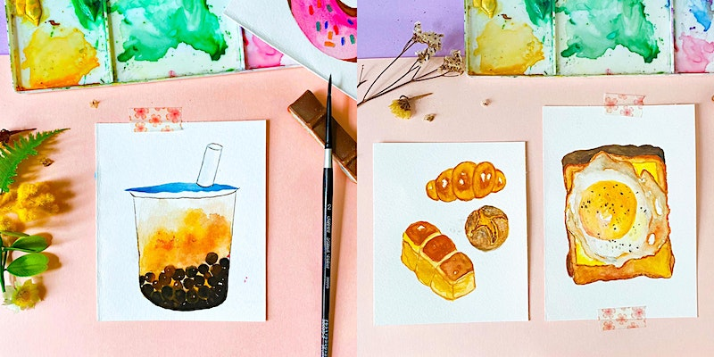 Food Illustration with Watercolours Online Workshop