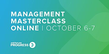 Management Masterclass Online | October 6-7 tickets