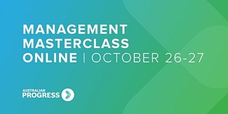 Management Masterclass Online | October 26-27 tickets