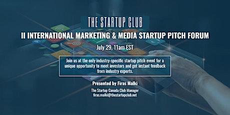 International Marketing & Media Startup Pitch Forum II tickets