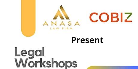 CoBiz Legal Workshops with Liku Madoshi, Esq. tickets