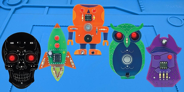 Workshop: Learn to Solder a Wearable Badge! Seniors, Adults + Kids. image