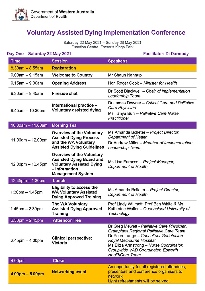Voluntary Assisted Dying Implementation Conference image