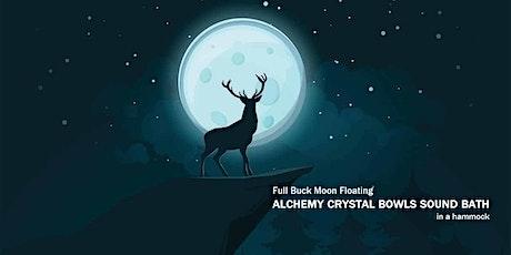 Full Buck Moon Floating ALCHEMY CRYSTAL BOWLS SOUND BATH in a hammock tickets