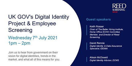 UK GOV's Digital Identity Project & Employee Screening tickets