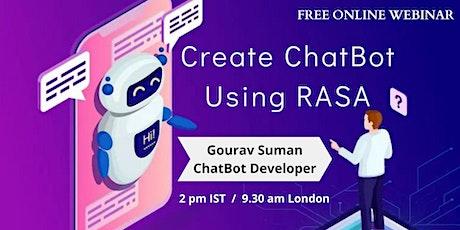 Webinar on RASA ChatBot Info Session tickets