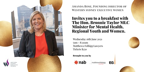 Breakfast with the Hon. Bronnie Taylor MLC tickets
