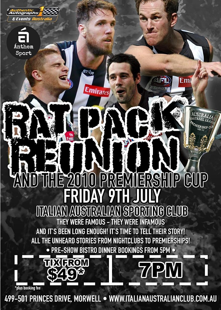 Rat Pack Reunion at Italian Australian Sporting Club! image