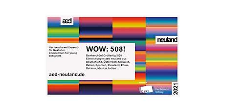 Online-Preisverleihung des Nachwuchswettbewerbs aed neuland 2021 Tickets