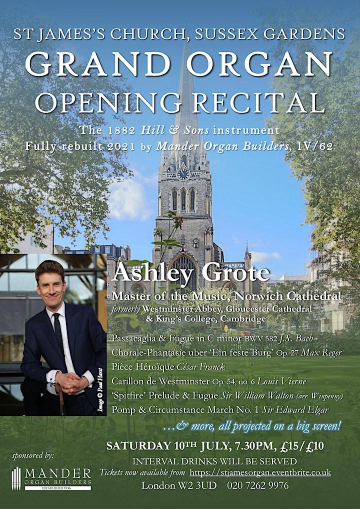 Grand Organ Opening Recital image