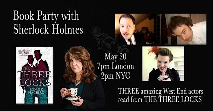 Featuring A Sherlock Holmes Adventure - The Three Locks by Bonnie Macbird image