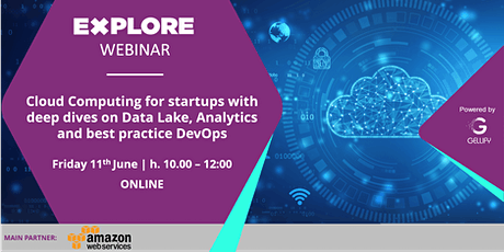 Cloud Computing for startups with deep dives on Data Lake, Analytics,DevOps biglietti