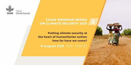 Putting Climate Security at the heart of humanitarian action tickets