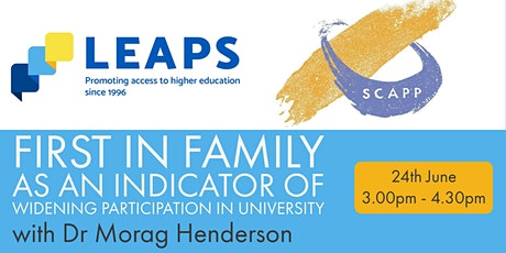 First in Family as an indicator of Widening Participation in university. tickets