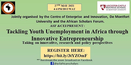 Tackling Youth Unemployment in Africa through Innovative Entrepreneurship tickets