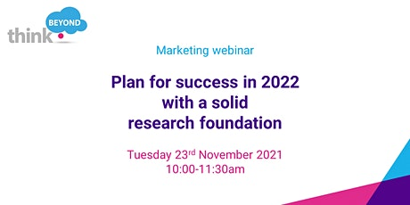 Plan for success in 2022 with a solid research foundation tickets
