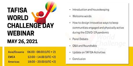 World Challenge Day entradas