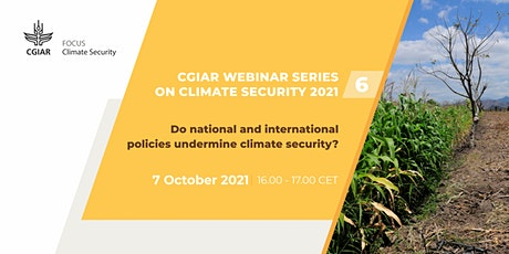 Do national and international policies undermine climate security? tickets