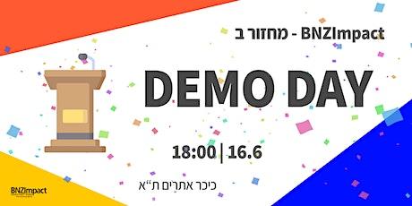 BNZImpact - DEMO DAY - 'מחזור ב tickets