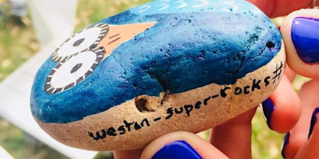 Paint and decorate kindness rocks tickets