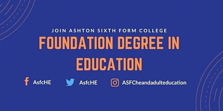 Foundation Degree in Education - Information Taster Session tickets