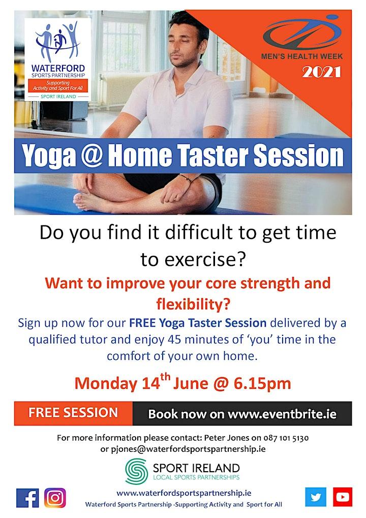 Men's Health Week - Yoga @ Home Taster Session 140621 image