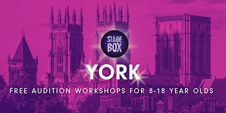 Free Stagebox Audition Workshop | YORK tickets