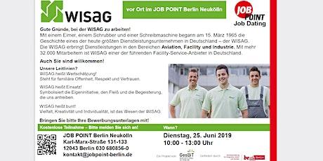 Online - Jobdating mit WISAG Tickets