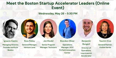Meet the Boston Startup Accelerator Leaders (Online Event) tickets