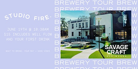 Studio Fire Brewery Tour with Savage Craft Ale Works tickets